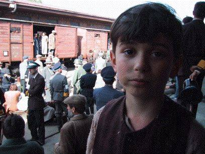 Daniel Szpilman on the set of The Pianist